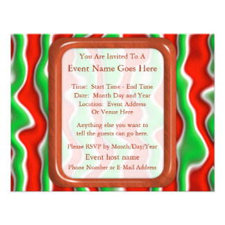 Christmas Ripples Personalized Invitation
