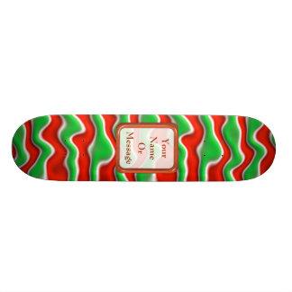 Christmas Ripples Custom Skate Board