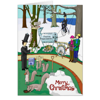 Christmas Roast Chestnuts in Sutton Park (Card) Card