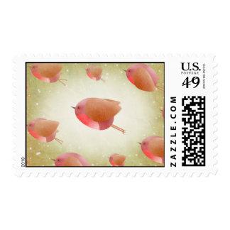 Christmas Robin Army - US postage stamps