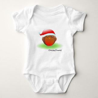 Christmas Robin Baby Bodysuit