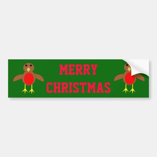 Christmas Robin Bumper Sticker