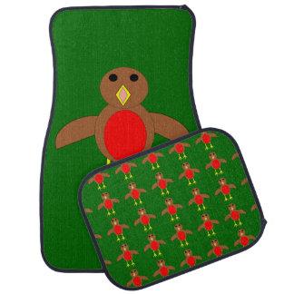Christmas Robin Car Mat Set