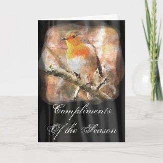 Christmas Robin Card card
