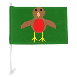 Christmas Robin Custom Car Flag