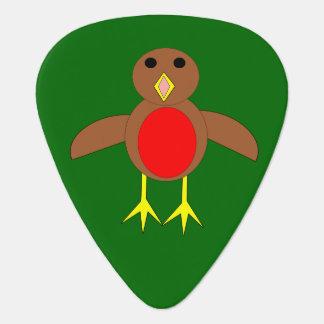 Christmas Robin Guitar Pick