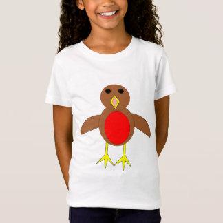 Christmas Robin Kids T Shirt