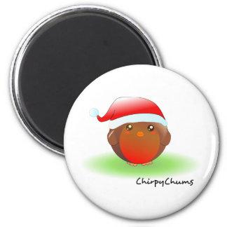 Christmas Robin Fridge Magnet