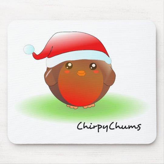 Christmas Robin Mouse Pad