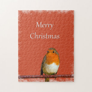 christmas robin red snowflakes jigsaw puzzle - Is Red Robin Open On Christmas