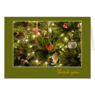 Christmas Robin thank you Card