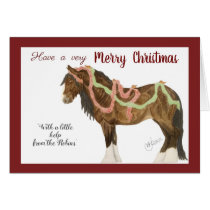 Christmas Robins & Horse Card