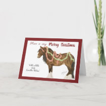 Christmas Robins & Horse Holiday Card