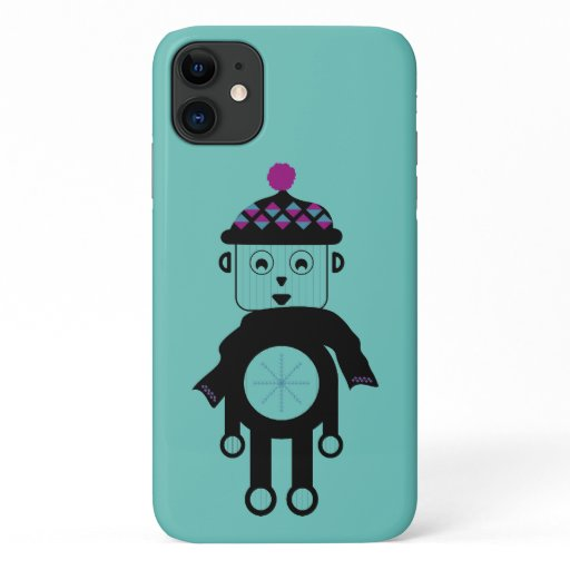 Christmas Robot Boy iPhone 11 Case