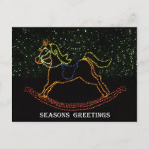 Christmas Rocking Horse 2016 Holiday Postcard