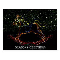 Christmas Rocking Horse 2016 Postcard