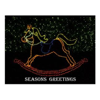 Christmas Rocking Horse 2016 Postcard