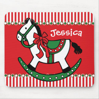 Christmas Rocking Horse Custom Mouse Pad
