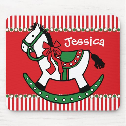 Christmas Rocking Horse Custom Mouse Pads
