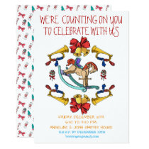 Christmas Rocking Horse Personalised Invitation