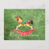Christmas Rocking Horse Postcard