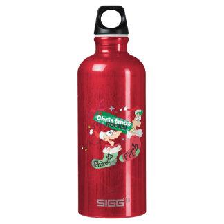 Christmas Rocks Aluminum Water Bottle