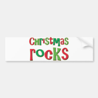 Christmas Rocks In Red and Green Bumper Sticker