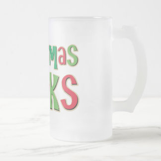 Christmas Rocks In Red and Green Coffee Mugs