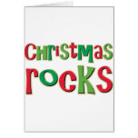 Christmas Rocks In Red and Green Greeting Card