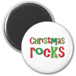 Christmas Rocks In Red and Green Refrigerator Magnets