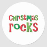 Christmas Rocks In Red and Green Sticker
