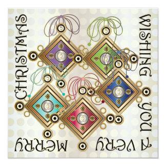 Christmas Roman Brooch Card