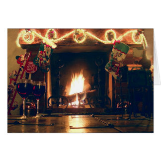 Christmas Romance and Warmth Customizable Card