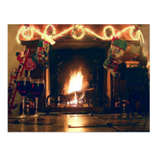 Christmas Romance and Warmth Customizable Postcard
