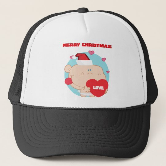 Christmas, Romantic Cupid with Heart Trucker Hat