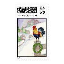 Christmas Rooster Postage