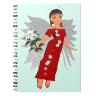 Christmas Rose Angel Notebook