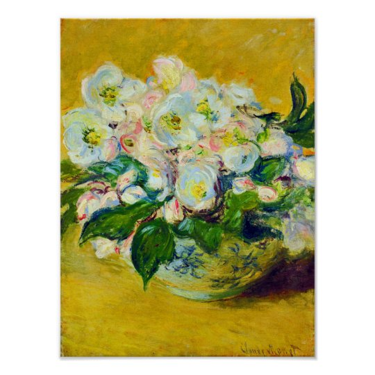 Christmas Rose Flowers Poster