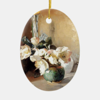 Christmas Roses 1897 Ceramic Ornament