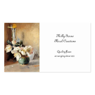 Christmas Roses Double-Sided Standard Business Cards (Pack Of 100)
