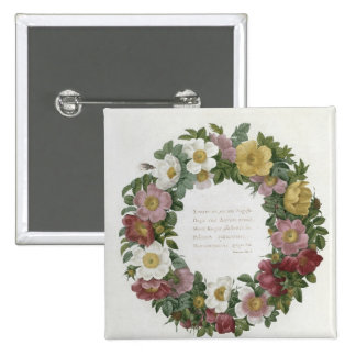 Christmas Roses Buttons