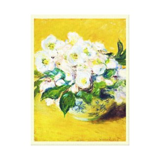 Christmas Roses Claude Monet flowers floral paint Gallery Wrap Canvas