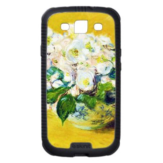 Christmas Roses Claude Monet flowers floral paint Samsung Galaxy S3 Covers