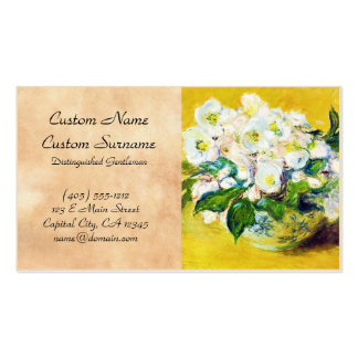 Christmas Roses Claude Monet flowers floral paint Double-Sided Standard Business Cards (Pack Of 100)
