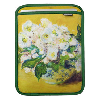 Christmas Roses Claude Monet flowers floral paint iPad Sleeve