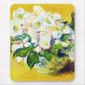 Christmas Roses Claude Monet flowers floral paint Mouse Pad