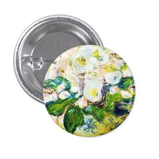 Christmas Roses Claude Monet flowers floral paint Pinback Button