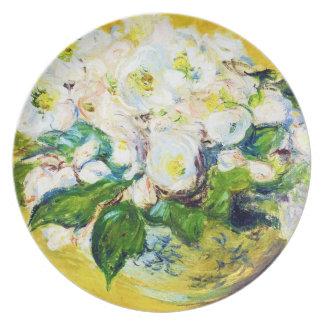 Christmas Roses Claude Monet flowers floral paint Plate