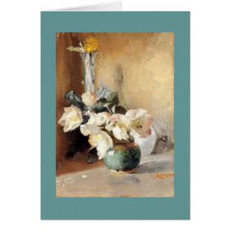 Christmas Roses Greeting Card