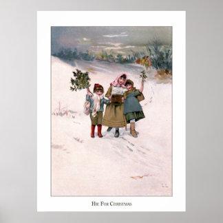 Christmas Roses: Hie For Christmas Print